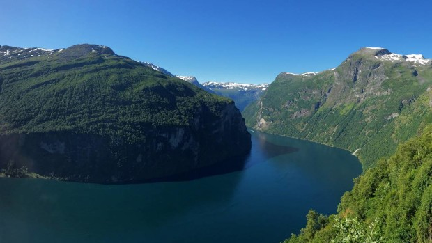 Fjord-Aussicht in Norwegen