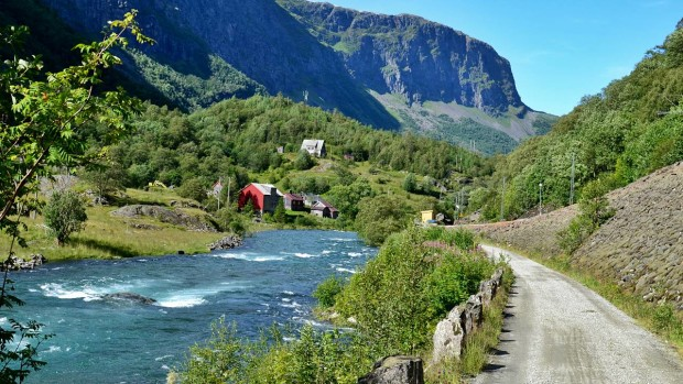 Bergfluss in Norwegen