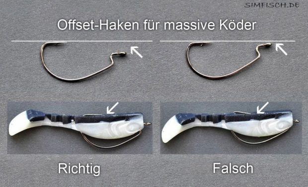 Offset Haken für massive Drop Shot Köder